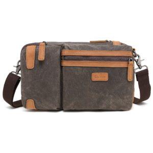 Multifunction Waxed Canvas Sling Bag MF 559W
