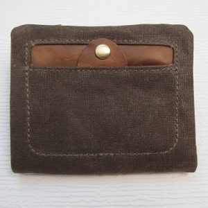 Waxed Canvas Wallet W3006